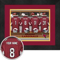 Arizona Cardinals Personalized Locker Room Poster