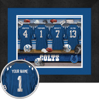 Indianapolis Colts Personalized Locker Room Picture