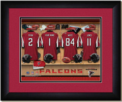 Atlanta Falcons Personalized Locker Room Jersey Picture
