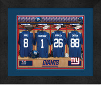 New York Giants Personalized Locker Room Picture