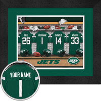 New York Jets Personalized Locker Room Jersey Poster