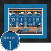 Detroit Lions Personalized Locker Room Picture