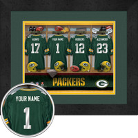 Green Bay Packers Personalized Locker Room Poster