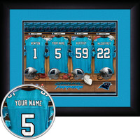 Carolina Panthers Personalized Locker Room Picture