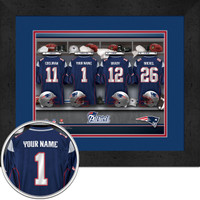 New England Patriots Personalized Locker Room Print