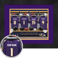 Baltimore Ravens Personalized Locker Room Picture