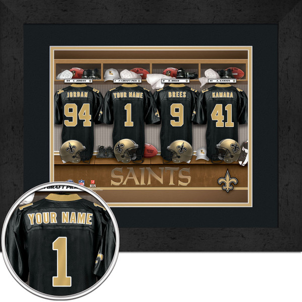 New Orleans Saints Personalized Locker Room Custom Picture