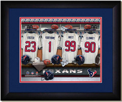 Houston Texans Personalized Locker Room Jersey Print