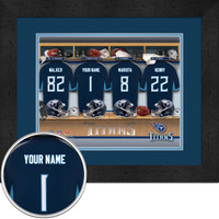 Tennessee Titans Personalized Locker Room Poster