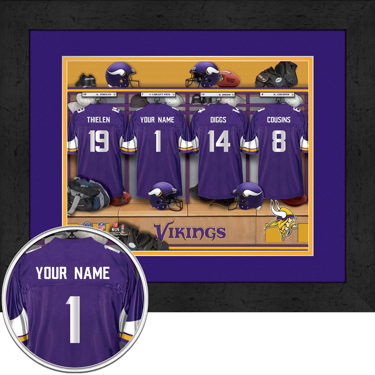 Minnesota Vikings Personalized Locker Room Custom Poster. Image 1 17cc076bd