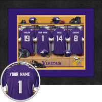 Minnesota Vikings Personalized Locker Room Custom Poster