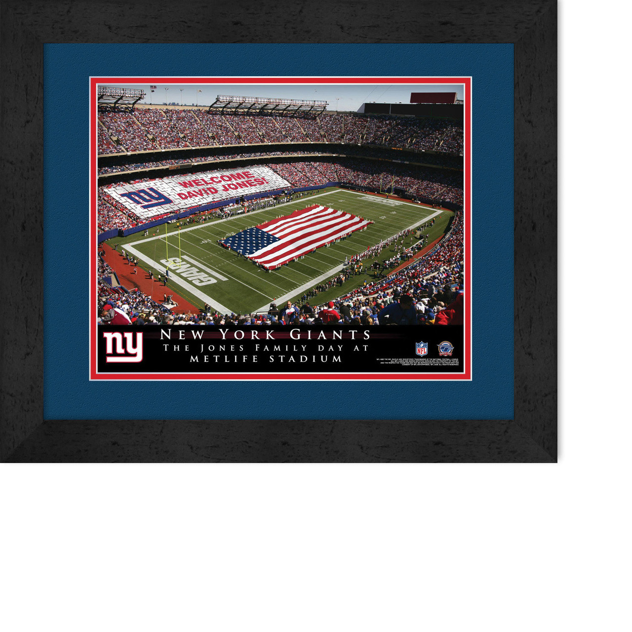 Personalized Customized New York NY Giants Name Poster Sport Banner with Frame