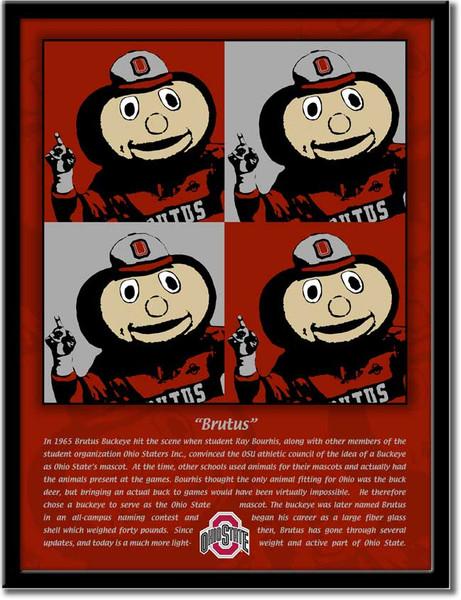 History of Brutus Pop Art Poster