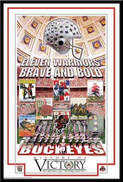 History Of Victory Series Poster Ohio State Memorabilia