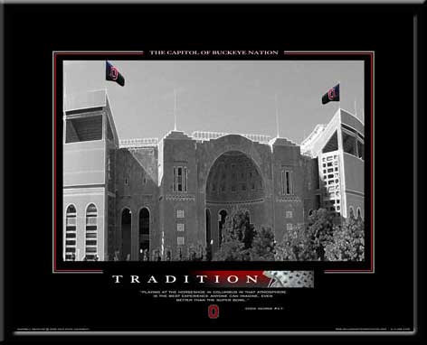 Ohio State Motivational Sports Poster Tradition