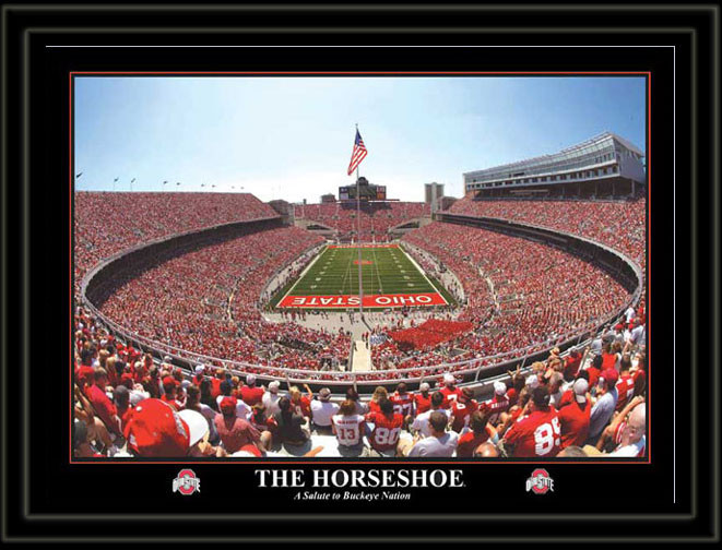 Ohio Stadium Poster The Horseshoe A Salute To Buckeye Nation