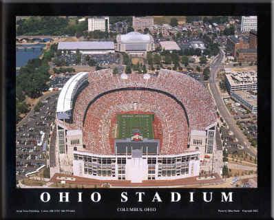 Ohio State Ohio Stadium Aerial Photo Framed Picture