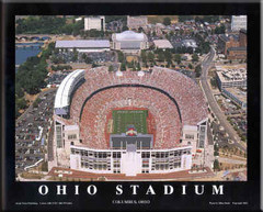 Ohio Stadium Aerial Photo Framed Poster