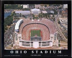 Ohio Stadium Aerial Photo Framed Poster