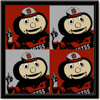 Ohio State Brutus Buckeye Pop Art Canvas We're #1!