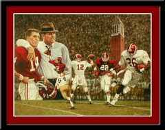 Alabama Legends of Crimson Football Art Poster