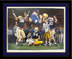 A Crown Of Gold Notre Dame Football Framed Print