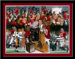 Championship Memories Alabama Crimson Tide Framed Poster