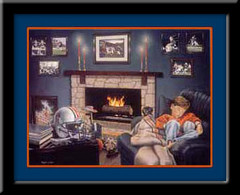 Auburn Dreams Framed Tigers Football Poster