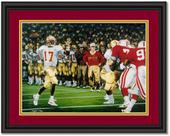 Gridiron Glory Florida State Charlie Ward Framed Picture