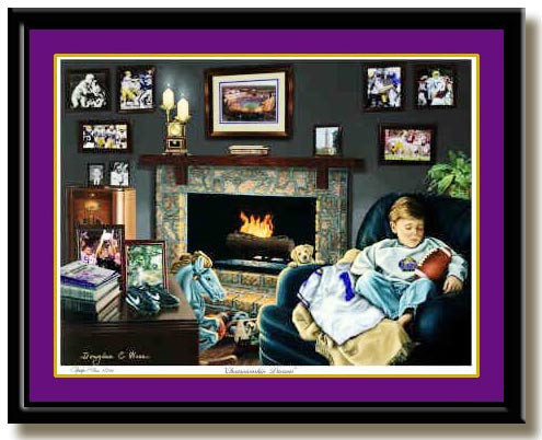 Lsu Louisiana Championship Dreams Print By Greg Gamble
