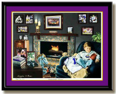 LSU Tigers Championship Dreams Framed Art Print