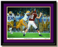 LSU Tiger Championship Sack Framed Picture