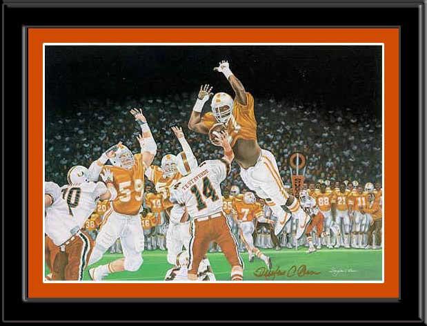 Orange Crush Tennessee Volunteers Framed Poster