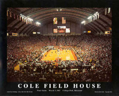 Maryland Basketball Framed Poster Cole Field House