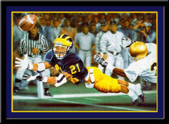 Michigan Wolverines The Catch Limited Edition Framed Print