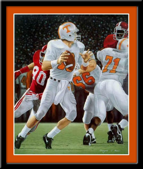Tennessee Vols Football Total Dominance Framed Poster