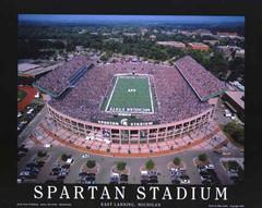 Spartan Stadium Aerial Photographic Poster
