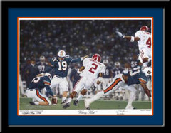 Auburn Tigers Victory Kick Framed Picture