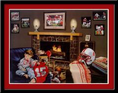 Nebraska Huskers Championship Dreams Framed Print