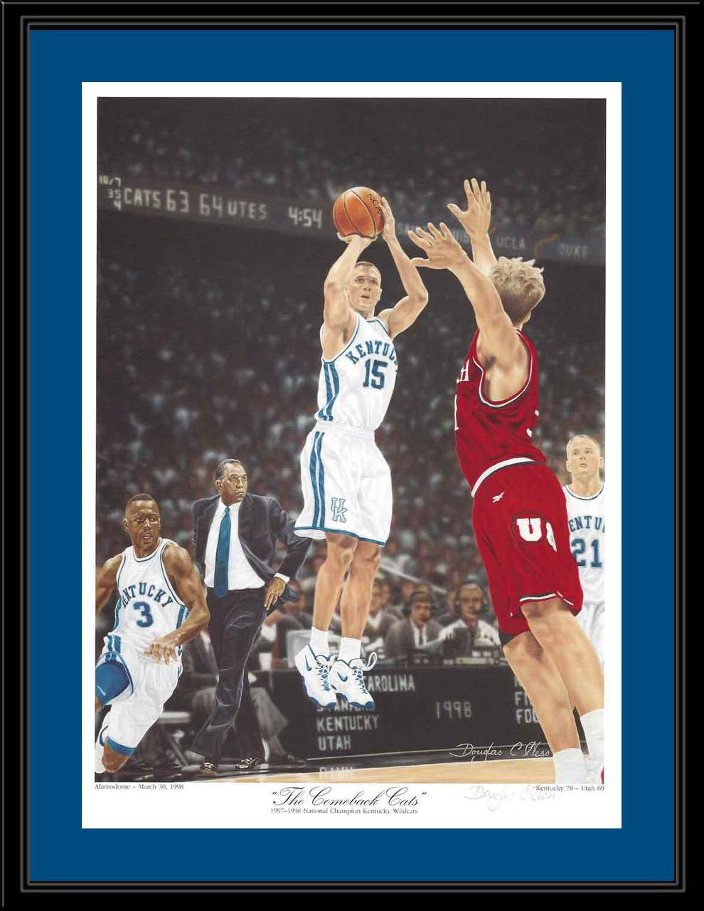 photo relating to Printable Uk Basketball Schedule titled Kentucky Basketball The Comeback Cats Framed Artwork Print