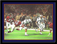 Auburn Tigers Reverse to Victory Framed Picture