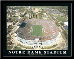 Notre Dame Stadium Aerial Photo Poster