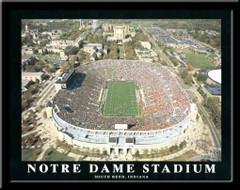 Notre Dame Stadium Aerial Photo Poster