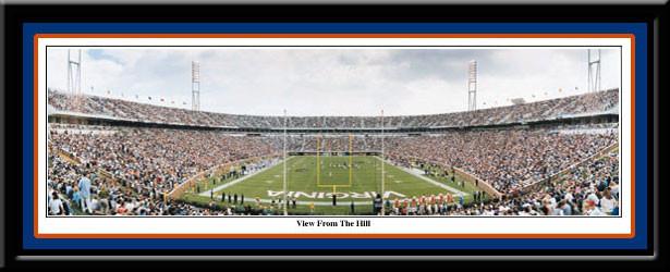 Scott Stadium Panoramic Poster Virginia View from the Hill
