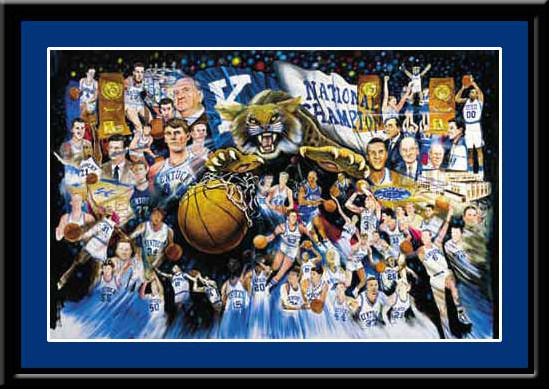 The Winning Wildcats Limited Edition Print Framed