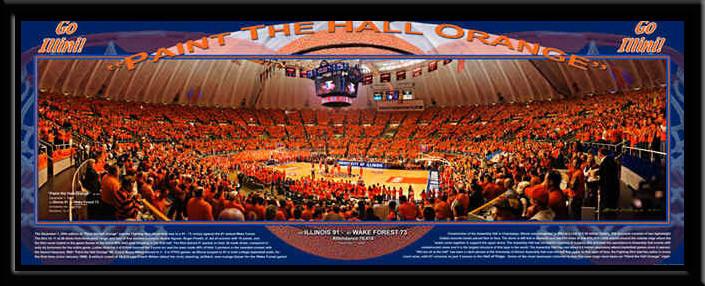 Paint The Hall Orange Illinois Illini Basketball Poster