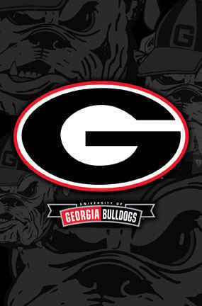 Georgia Bulldogs Official Logo Framed Poster