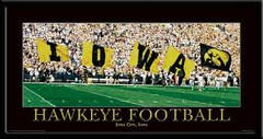 Hawkeye Football Colorguard Framed Picture