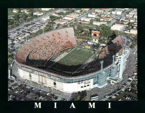 University of Miami Hurricanes Orange Bowl Aerial Photo Poster