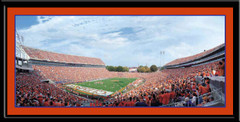 Clemson Tigers Death Valley Stadium Framed Panoramic Poster